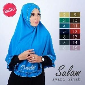 Jilbab Sulam Syari Hijab / Syari Sulam / Sulam Syar'i Hijab