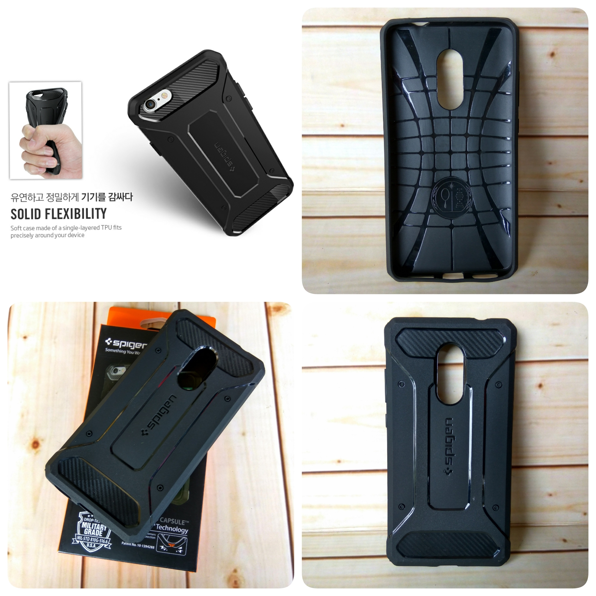 online store 0f2a2 2b7ee Jual SA Case Spigen Rugged Capsule Armor Xiaomi Redmi Note 4 ...