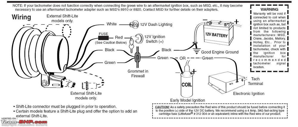 pro comp auto meter tach wiring diagram
