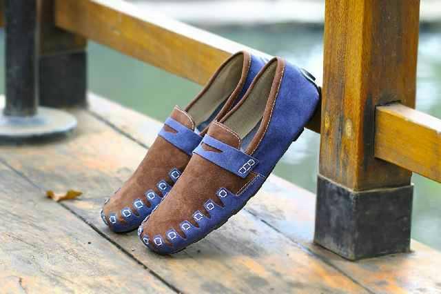 sepatu kickers codile brown blue