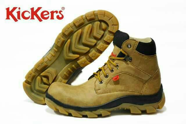sepatu boot safety kickers ride along polos tan