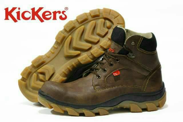sepatu boot safety kickers ride along polos coklat