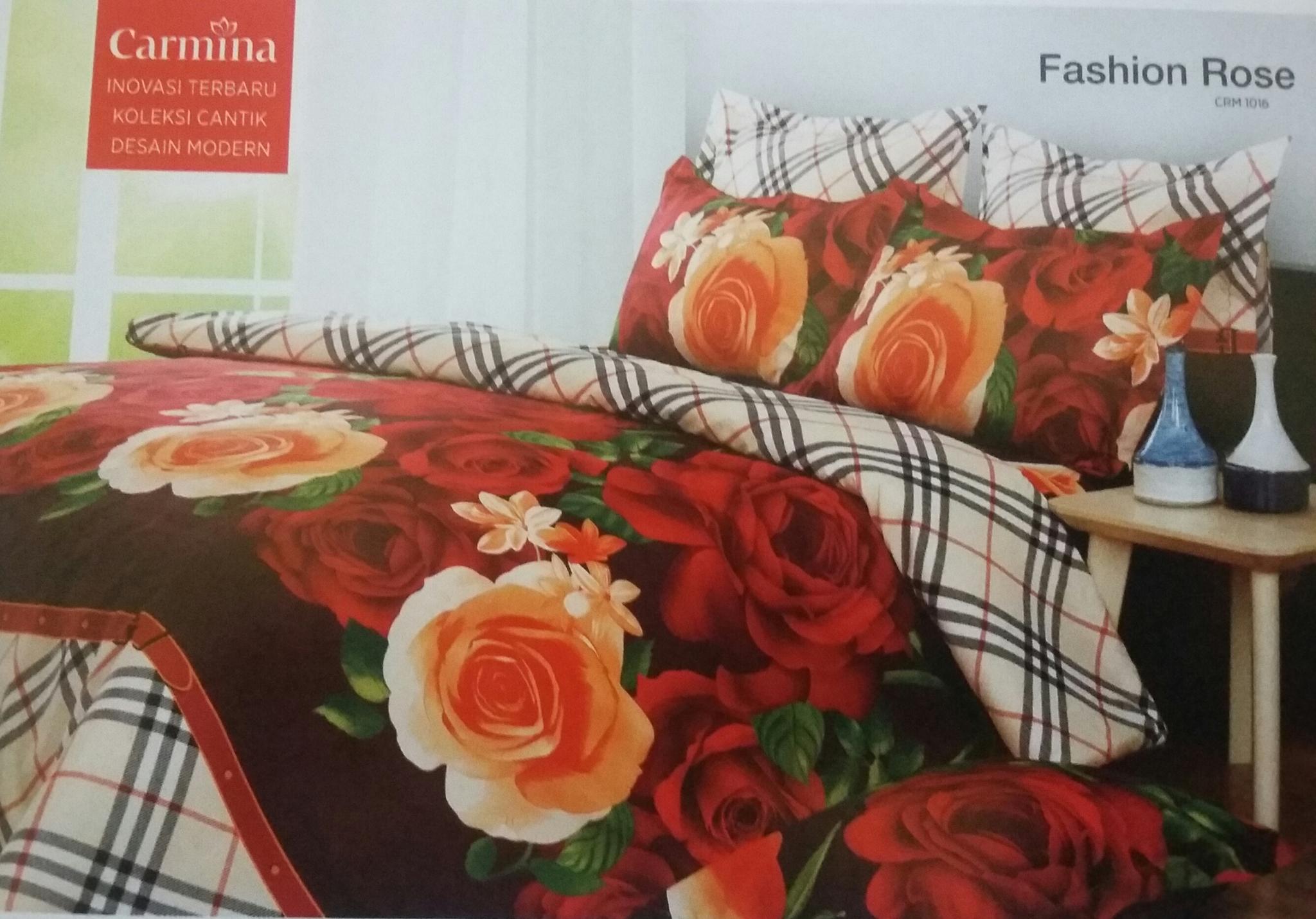 Jual SPREI CARMINA BATIK KING 180 X 200 MOTIF FASHION ROSE - Rannia Collection   Tokopedia