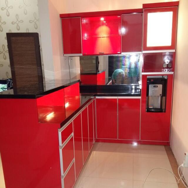 Jual kitchen set minimalis bandung lemari dapur rak for Harga kitchen set bandung