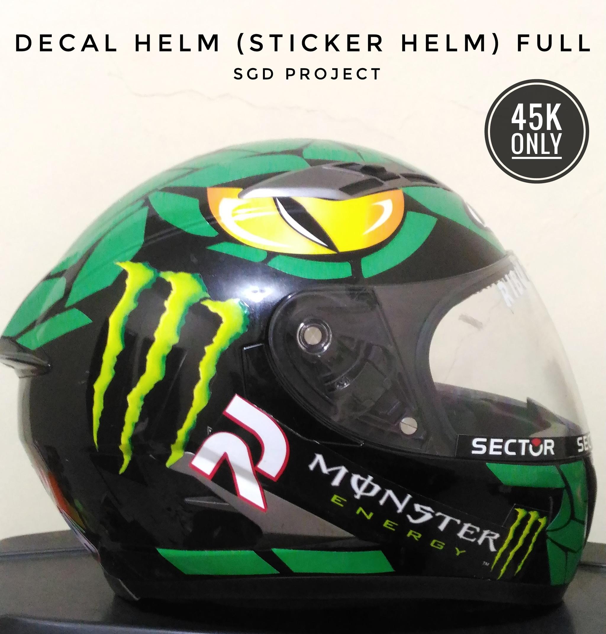 Gambar fang stiker motorcycle helm