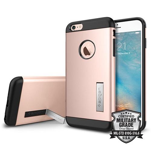 Spigen iPhone 6 Plus - 6S Plus Slim Armor Casing Case - Rose Gold