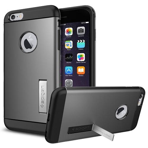 Spigen iPhone 6 Plus - 6S Plus Slim Armor Casing Case - Gun Metal
