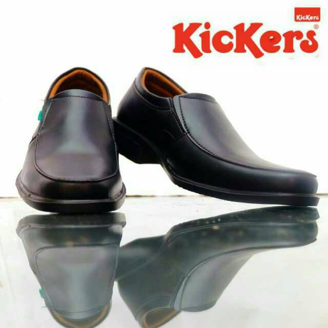 sepatu pantofel kerja kickers steven hitam