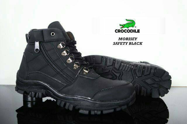 sepatu boot safety crocodile morisey black