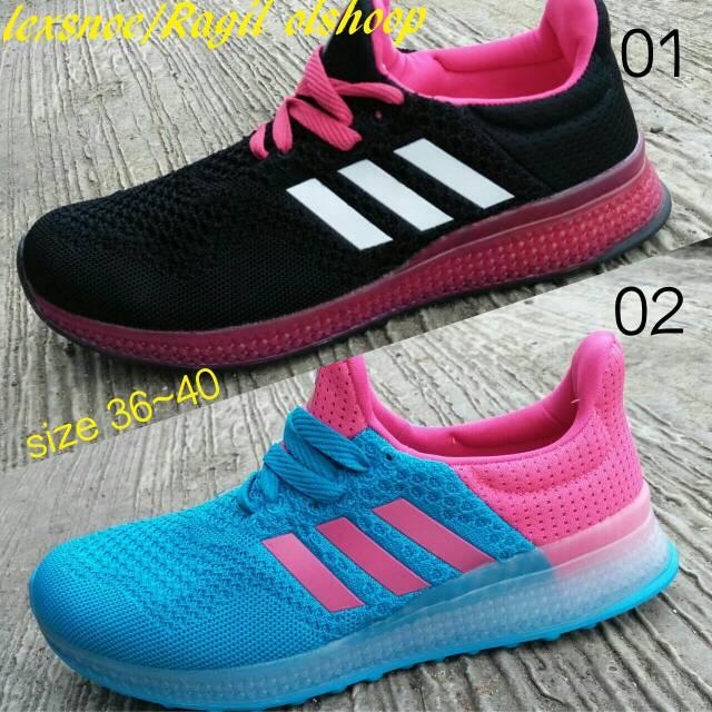 sepatu adidas slop sepatu running gaul dan lifestyle women