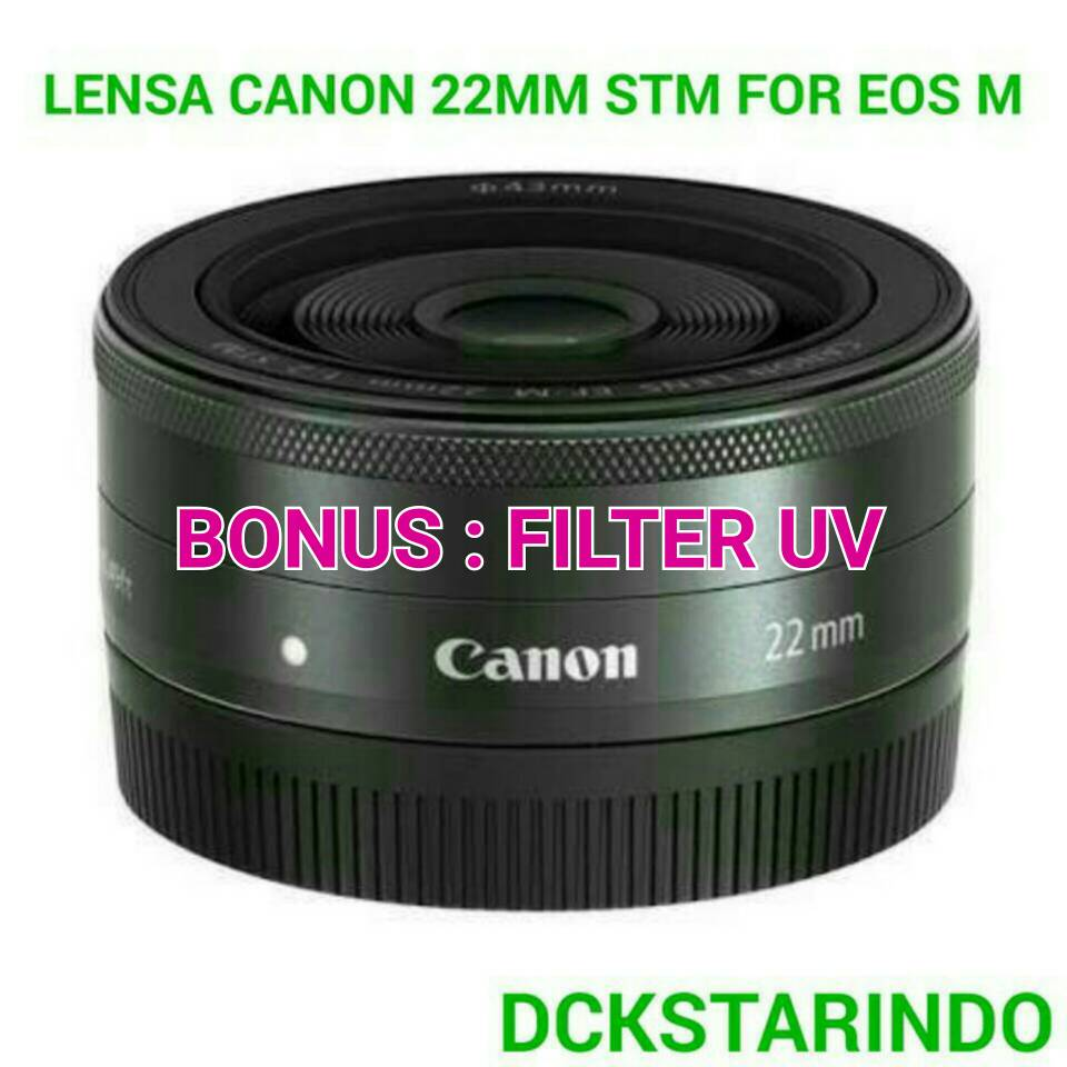 Jual Lensa Canon 22mm Stm For Eos M Dckstarindo Tokopedia