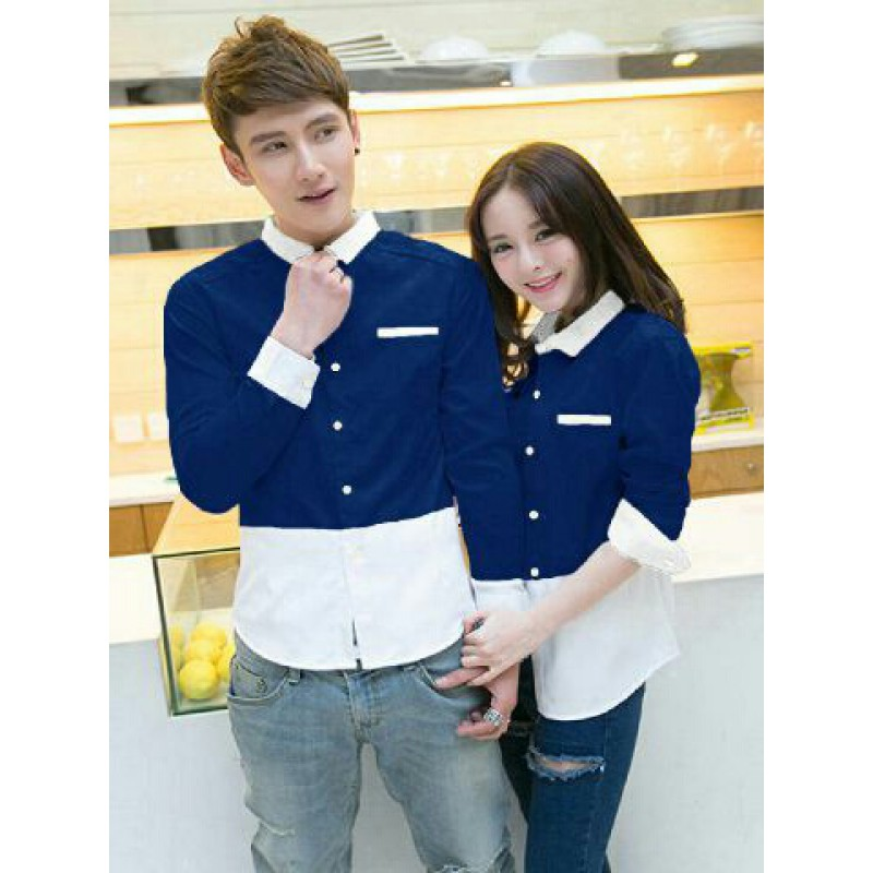 Kelebihan Legionshop Kemeja Pasangan Kemeja Couple Baju Couple Source · Jual Fullo Whina Navy Baju Kemeja