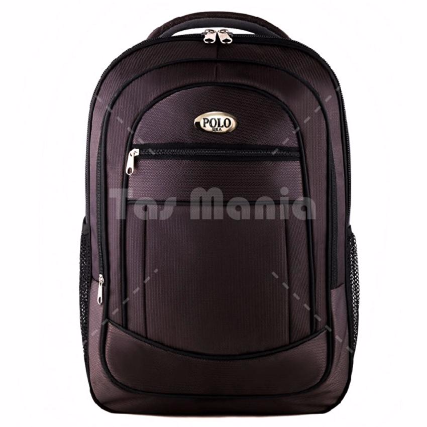 Jual NEW Polo Campus King Cobra Laptop Backpack -Brown + FREE Raincover LZD - HELLO GOOD BUY! | Tokopedia