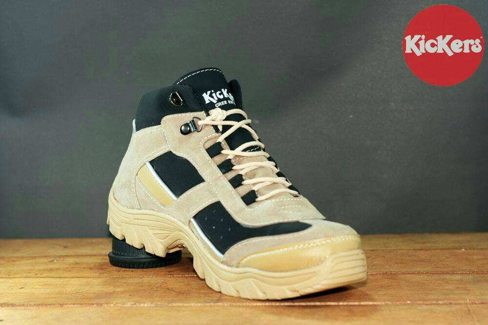 sepatu boot safety kickers spider cream
