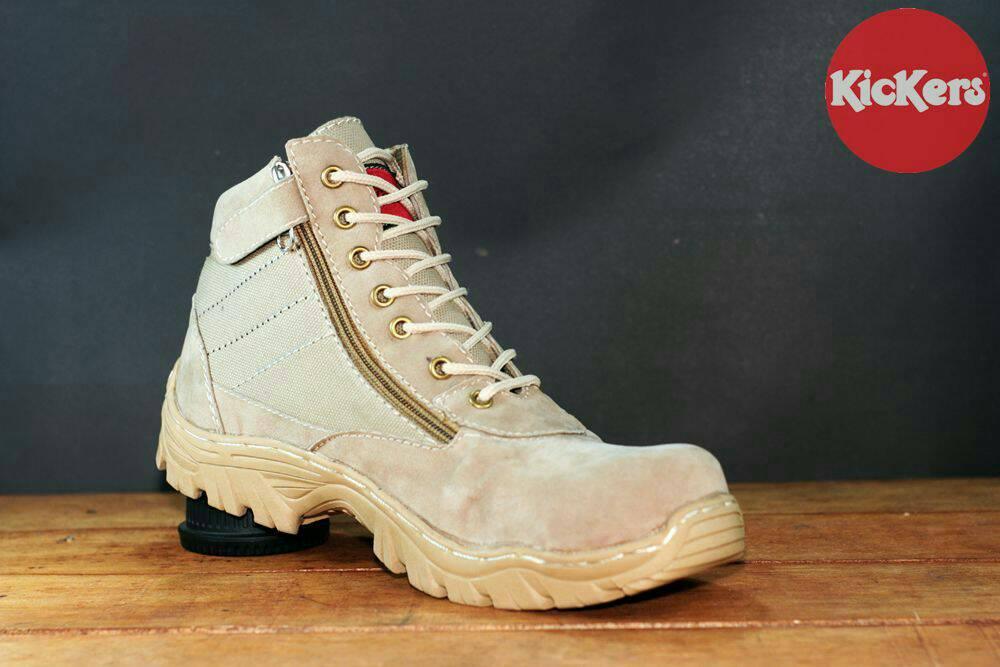 sepatu boot kickers cruise cream
