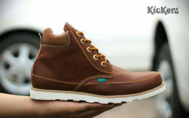 sepatu boot kickers seller tan