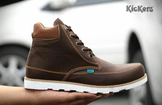 sepatu boot kickers seller coklat