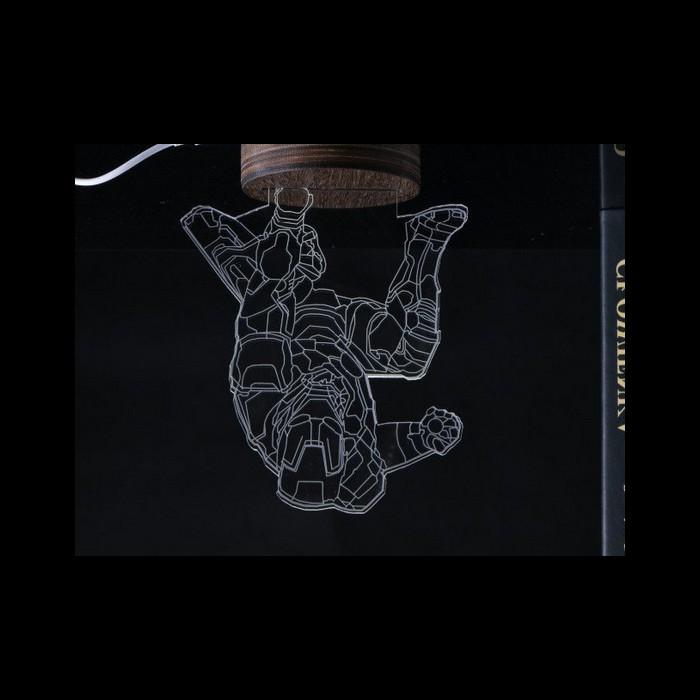 ... Lampu 3D LED Transparan Design Iron Man