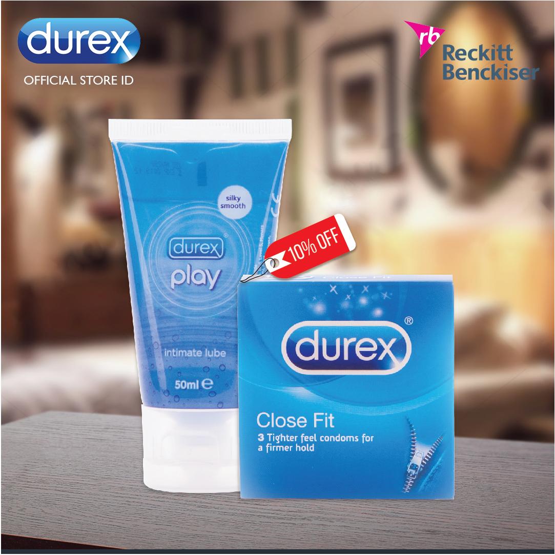 Jual Durex Kondom Close Fit Isi 3 Play 50 Ml Gratis Love B Artika Bergerigi Kondomdurex Tokopedia