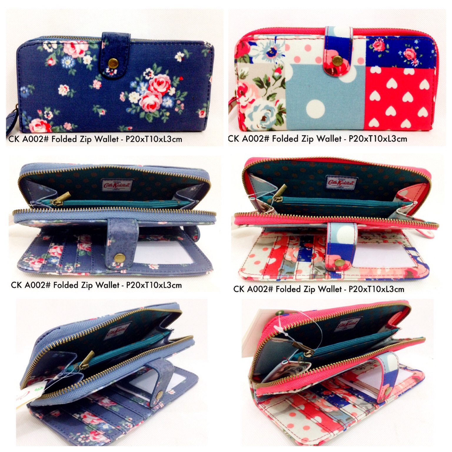 DISCOUNT DOMPET CATH KIDSTON A002 #FOLDED ZIP WALLET TERMURAH