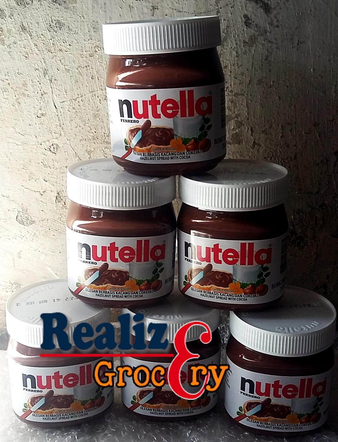 Info Harga Selai Coklat Nutella Hazelnut Terbaru 2018 Ferrero 350g Jual 350 Gram Realize Grocery Tokopedia