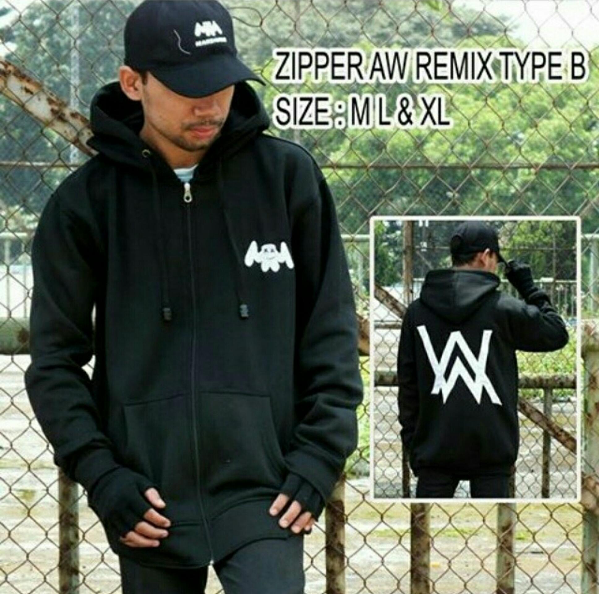 Jual Jaket Alan Walker Remix Pria Wanita Rc Jacket Tokopedia Sweater Dj Zipper