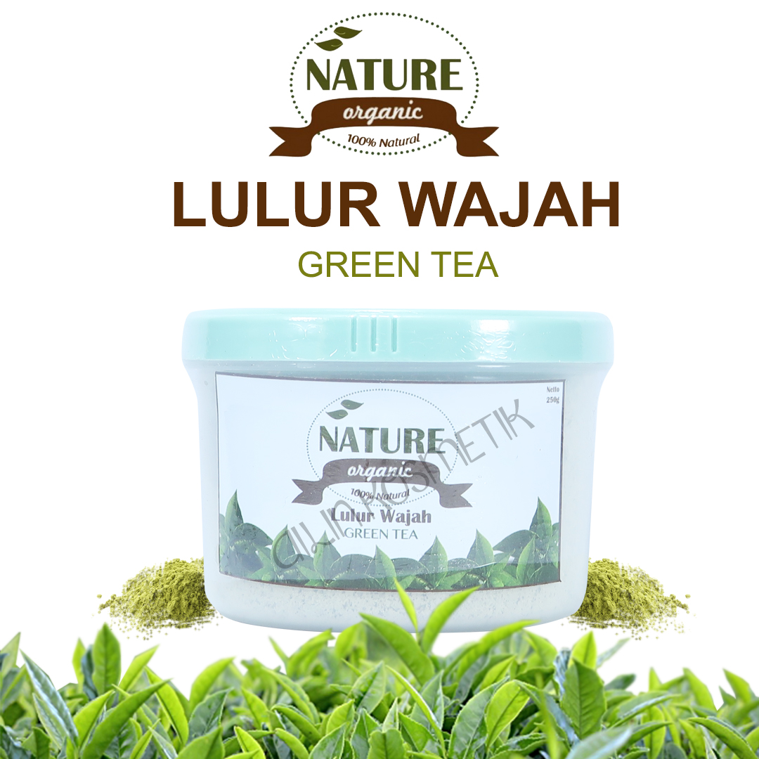 Jual Green Tea Lulur Wajah Nature Organic Ailin Kosmetik Jkt Bengkoang Milk Tokopedia
