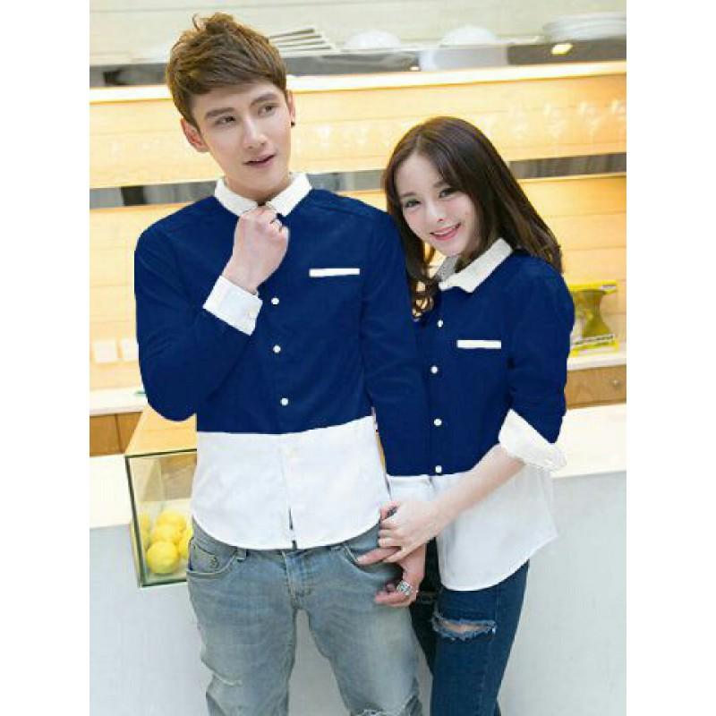 Jakarta Couple Kemeja Couple Acak Navy Kemeja Couple Batik Daftar Source · Jual Fullo Whina Navy