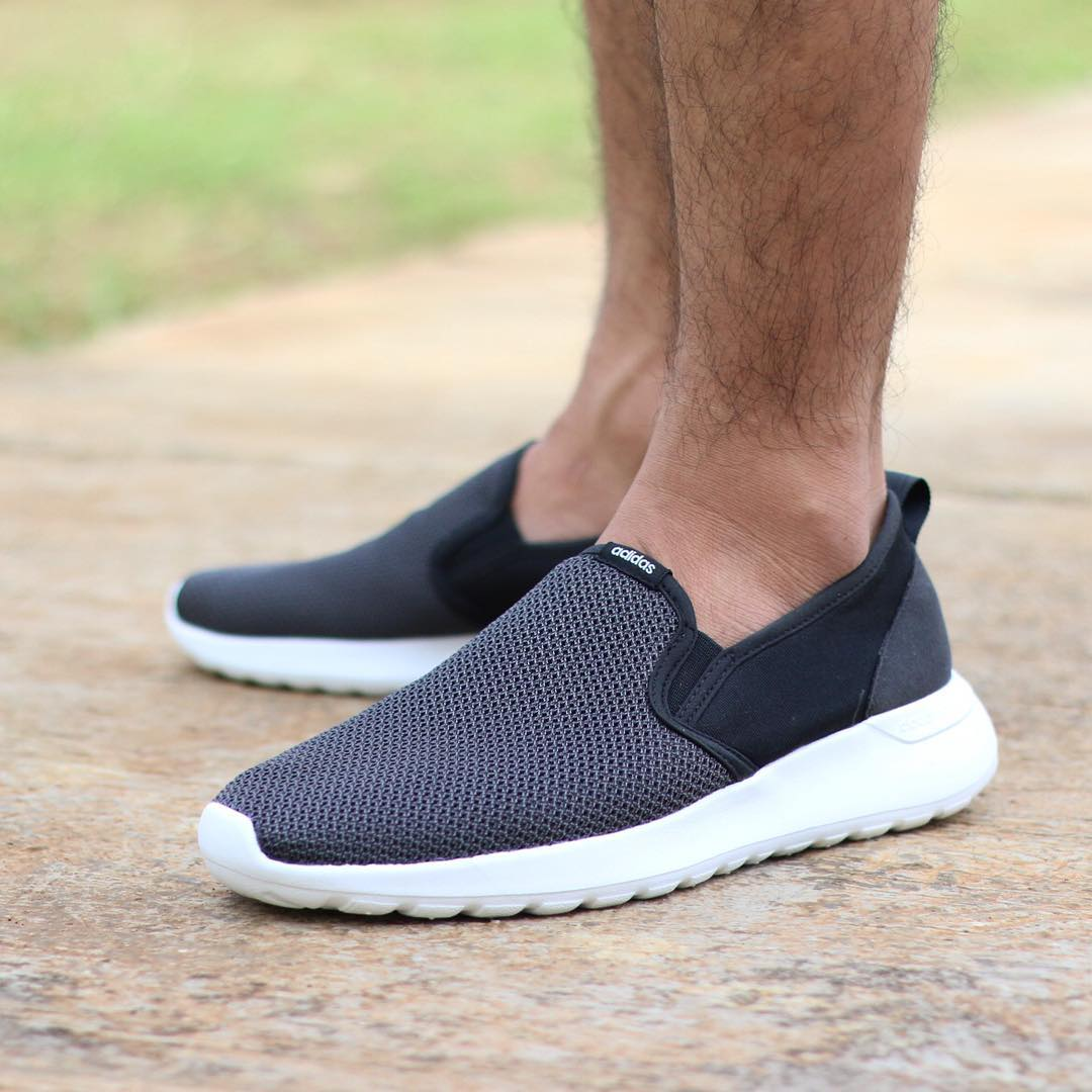 adidas neo cloudfoam ultra footbed slip ons