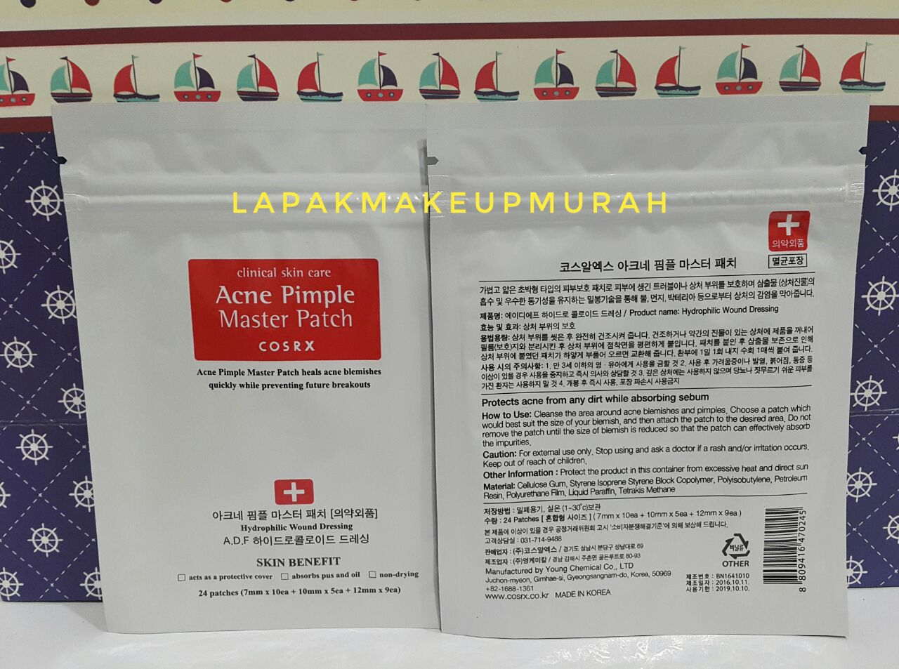 Jual Korea Cosrx Acne Pimple Master Patch Lapak Makeup Murah Isi 24ea Tokopedia