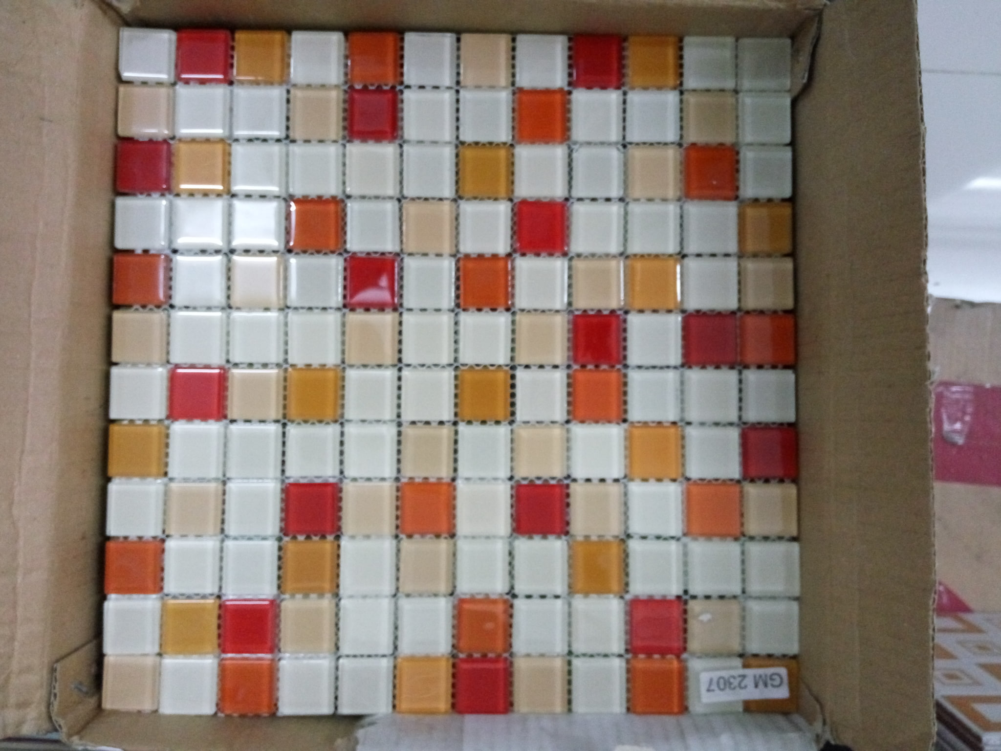 Jual Keramik MOZAIK Dinding 4 Warna Rajawali Keramik Tokopedia