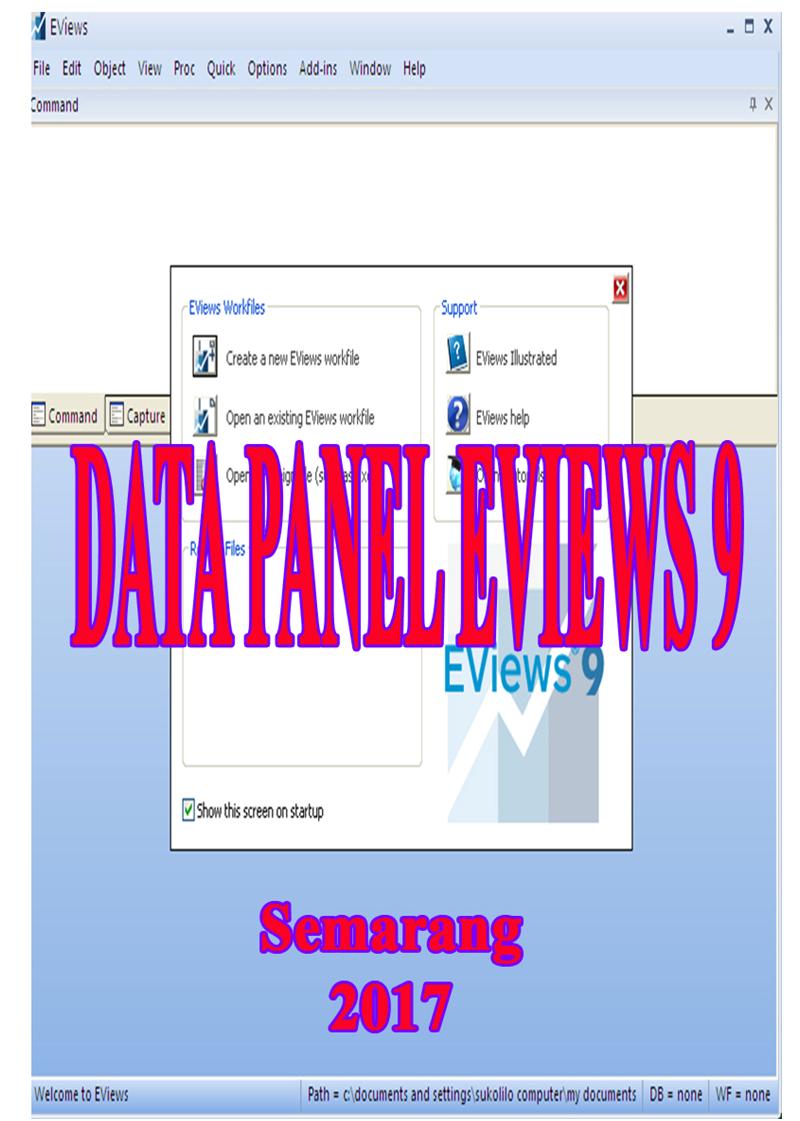 Jual Ebook Data Panel EVIEWS 9 - Kota Semarang - BIRO