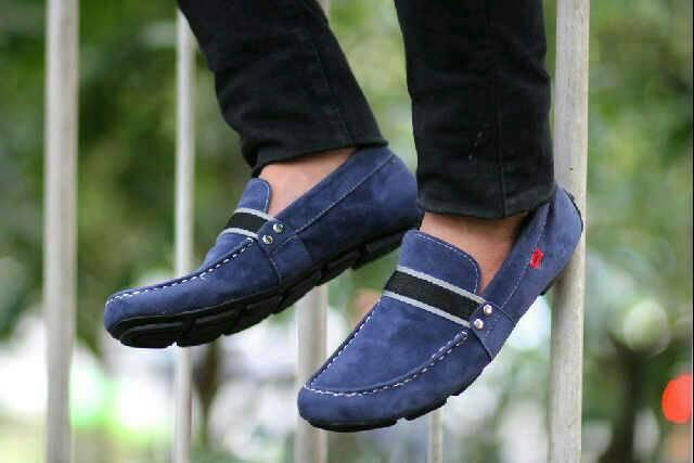 sepatu slop kickers linea navy suede