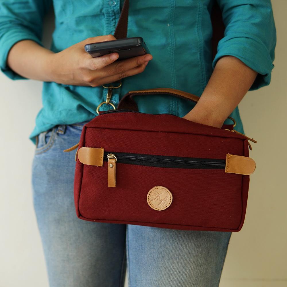 Sling bag tokopedia -  Firefly Finlay Maroon Dopp Kit Sling Bag Pouch