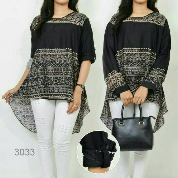 baju blouse 3033 Etnic Fishtail Jumbo Blouse