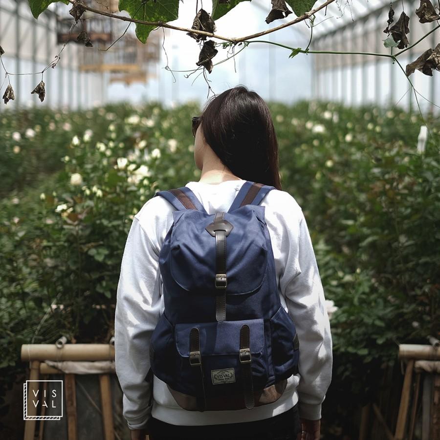 Jual Tas Ransel / Backpack Sekolah & Kuliah |Laptop | Branded, Abig - Navy - VisCool | Tokopedia