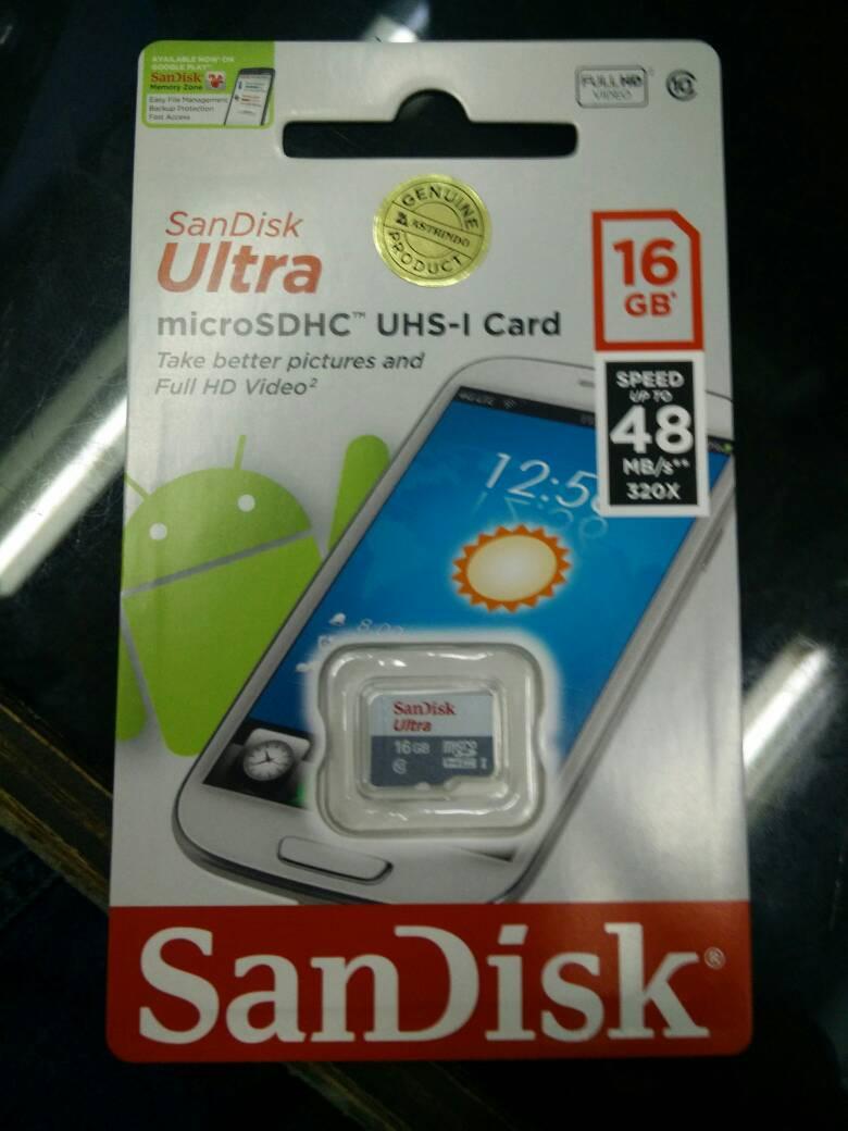 Jual Memory Card MicroSD Sandisk 16GB Class 10