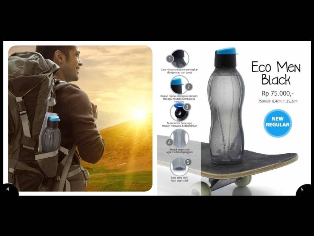Tupperware Tawakal Fancy Crystalwave Eco Man 1 Psc Multi Colour Botol Minum Hitam 750 Ml Jual Bottle Men Black Mimi