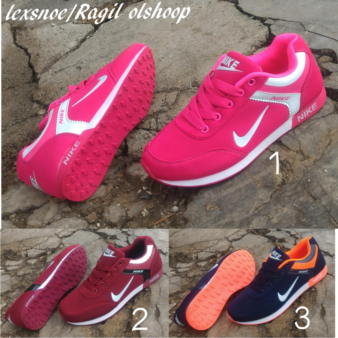 sepatu nike free running women pink