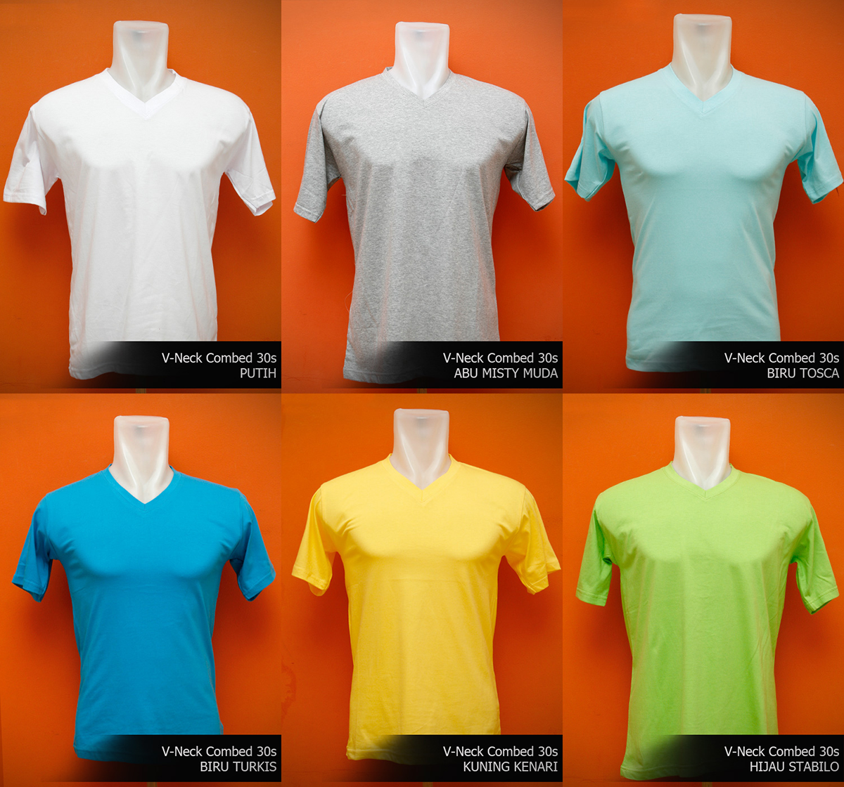 Jual Kaos V Neck Polos Oblong Cotton Combed 20 30s 24 Warna Size M Special K Tokopedia