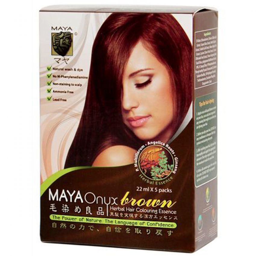 Jual Maya Onyx Hair Coloring Shampoo Brown Perbox Beauty