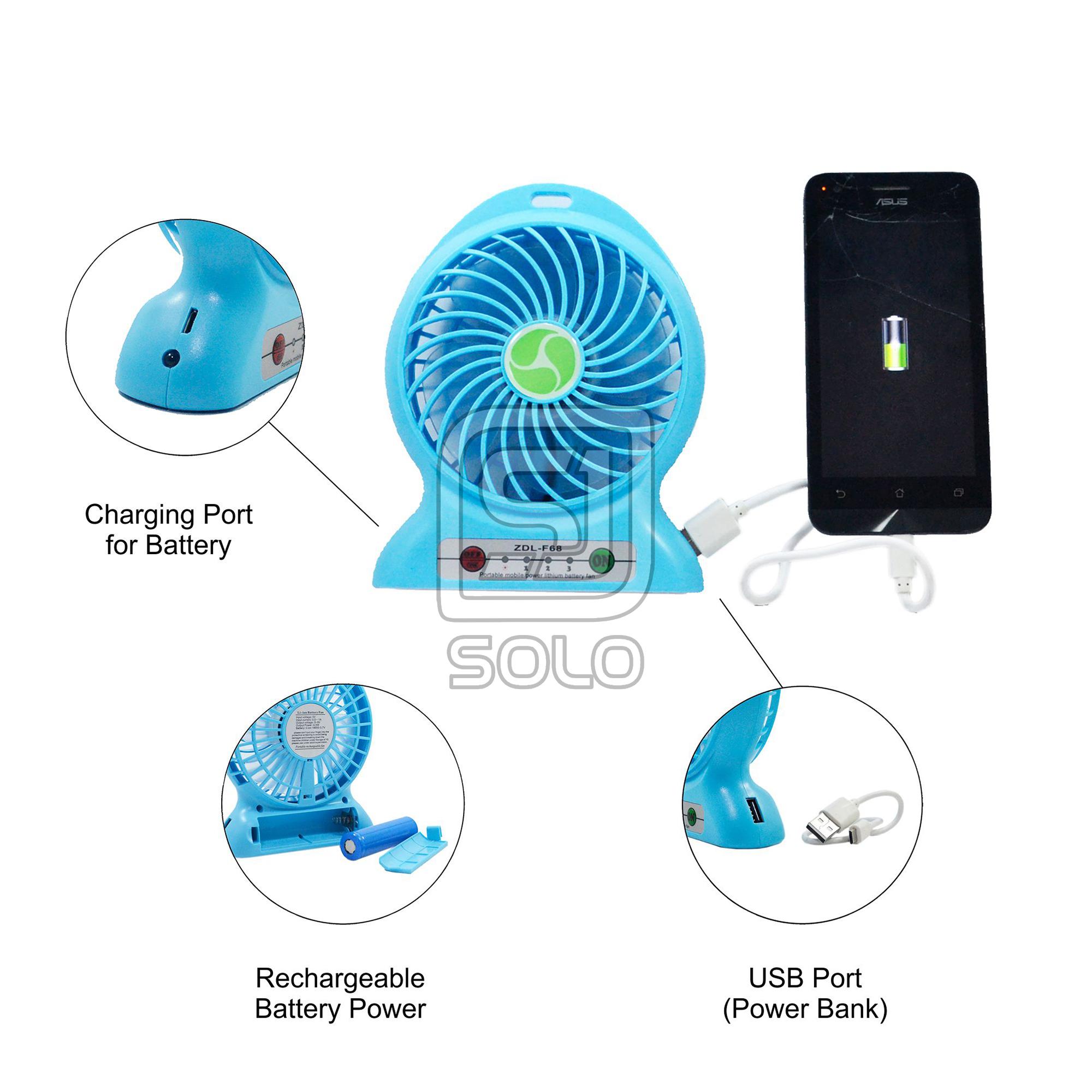 Jual Kipas Angin Mini Usb Portable Cooling Fan Powerbank 2 In 1 Recharger