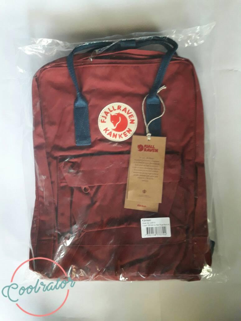 Jual Tas Ransel Fjallraven Kanken Ox Red Royal Blue Authentic Classic 16l Standard Sekolah Outoor Coolrator Tokopedia