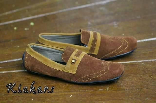 sepatu kickers wingtip brown