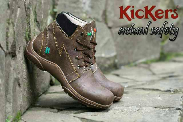 sepatu boot safety kickers actual brown