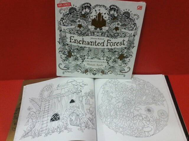 Jual COLORING BOOK ENCHANTED FOREST JOHANNA BASFORD