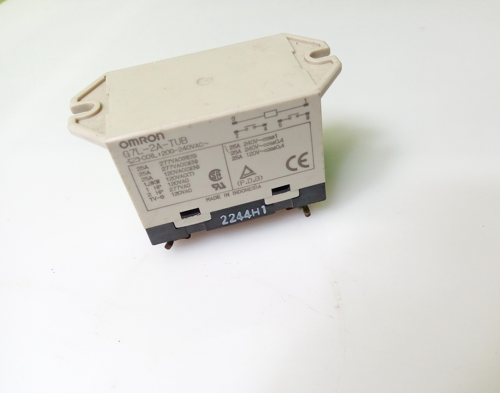 Jual Relay Omron G7l 2a Tub Coil 200 240vac Contact 25a Dpst No Power Trbekas Tokopedia