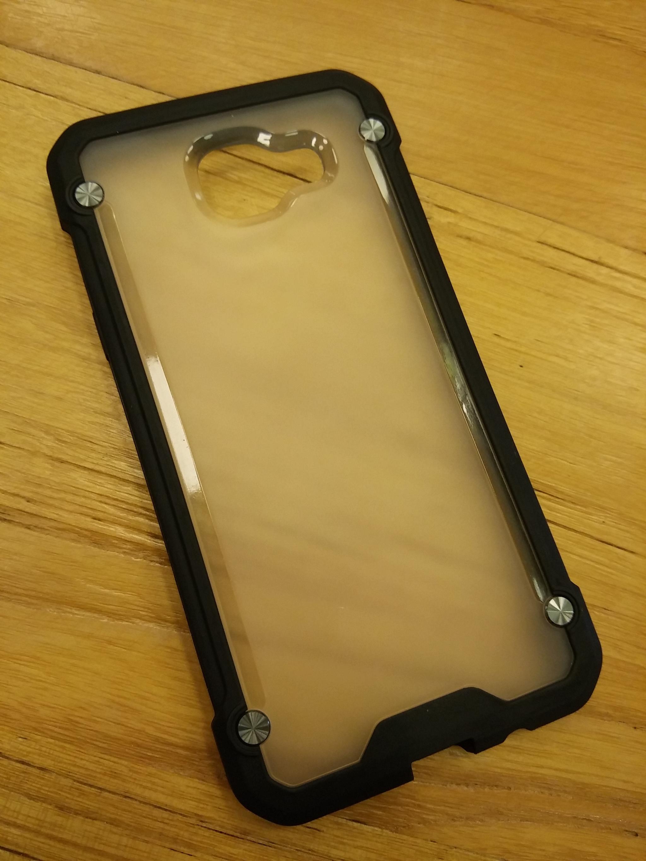 Samsung Galaxy A5 2016 Clear Doff Back  TPU Armor Cushion Hybrid Case