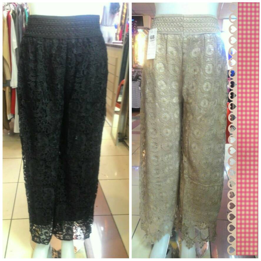 Jual Bawahan Celana Panjang Brukat Brokat Lace Fashion Impoer Wanita Hareem Pants Standart Dreamy Clothing Tokopedia
