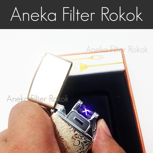 Korek Api Listrik USB | Rechargeable Arc Lighter JINLUN JL217